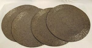 Silver Beaded Round Placemats 15