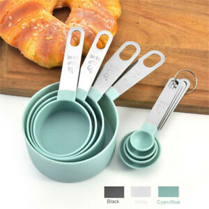 8pcs Stainless Steel Measuring Cups Spoons Kitchen Baking Cooking Tools Set