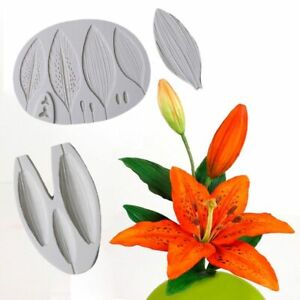 Flower Lily Buds Silicone Mold Fondant Mould Bakeware Sugarcraft Cake Decor Tool