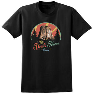 Devils Tower Close Encounters Third Kind Inspired T shirt 70s Retro Sci Fi Film