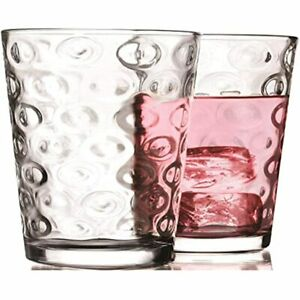 Circleware 40182 Circles Juice Drinking Glasses, Piece Set, Heavy Base Tumbler 7
