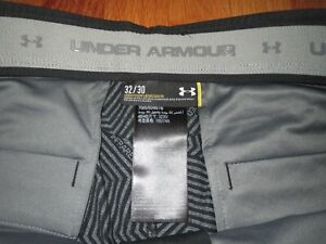 Under Armour Golf Pants Size 30x32 Mens Black Match Play Loose **MINT** $26.24