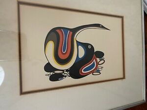 Lithograph Protection-Canada Goose By Jackson Beardy Ojibway Native Artist