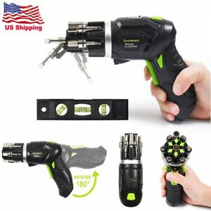 Li-ion Cordless Electric Screwdriver Rechargeable Power Household DIY 3.6V USA