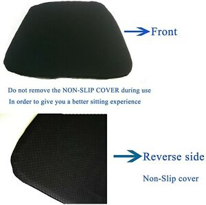 Gel Seat Cushion,1.57 inch Double Thick Egg Seat Cushion,Non-Slip Cover