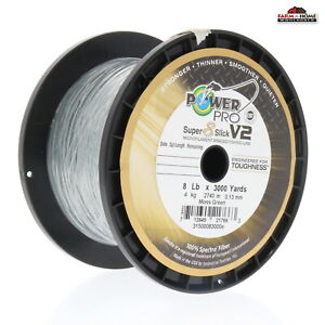 Power Pro Braided Fishing Line 8lb 3000yds Green New