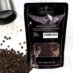 The Spice Lab Peppercorns –Tellicherry Whole Black Peppercorns for Grinder - Bag