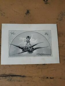 Vntg 1880s John Lowell Lithograph Lithograph Christmas Card $9.99