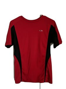 Champion Dry Fit Boys Red Sports Short Sleeve Shirt Size L $1.99