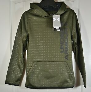 NWT BOYS YOUTH KIDS UNDER ARMOUR COLD GEAR GREEN PULLOVER HOODIE JACKET M, L, XL $21.60