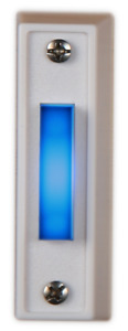 Doorbell Button BLUE LED Police Door Bell Lighted Wired Made in USA