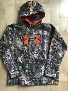 Under Armour Boys Youth Pullover Big Logo Hoodie Sweatshirt Camo XL NWT $22.99