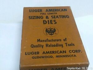 Rare LUGER AMERICAN 2 Die Reloading Set for 244 Remington Herter's Glenwood MN