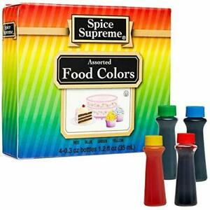 Spice Time LIQUID FOOD COLORING Made in USA new & fresh baking colors crafts