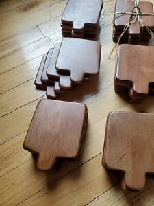 Wooden Coasters Durable Coffee Square Wood Set of four $1.00