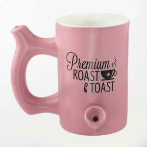 Premium PINK  Roast and Toast stoner girl Coffee Tea Cocoa beer  Pipe Mug