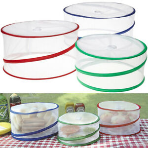 Set of 3 Pop Up Food Covers Mesh Screen Outdoor Picnic BBQ Tent Bug Protector !