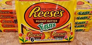 Reese's Milk Chocolate Peanut Butter Eggs 6 Pack Kid's Snack Easter BB 02/2021