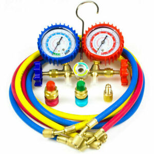 AC Diagnostic Manifold Gauge Set Charging Refrigeration HVAC R12 R22 R134A R502 $29.98