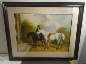 FRAMED SIGNED 1846 ENGLISH EQUESTRIAN PRINT 32quot; X 26quot; $124.99