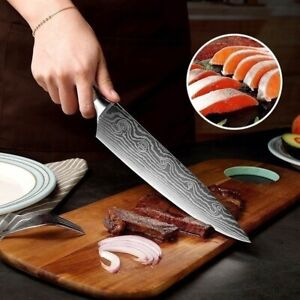 FIRE Chef Knife 8 Inch Stainless Steel Damascus Kitchen Professional Chef Knives