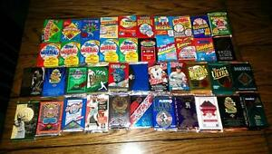 Awesome Lot of 100 Unopened Old Vintage Baseball Cards in Wax Cello Rack Packs