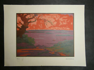 Russian famous Art Nouveau artist V.Falileev real 1923 year litography 28 x21cm $55.00