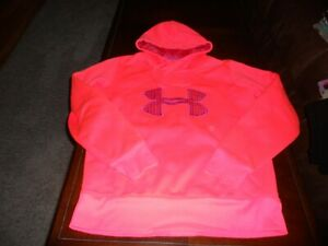 Under Armour womens hoodie size M medium MINT cond semi fitted sweat shirt Storm $18.00
