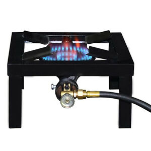 Single Cast Iron LPG Gas Boiling Ring Burner Catering Stove Camping Propane Tank