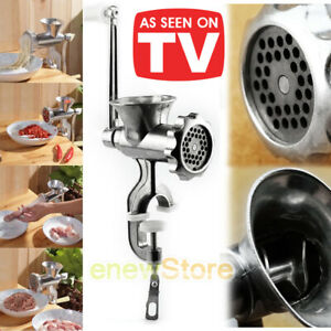 Heavy Duty Manual Food/Meat Mincer/Sausage Maker/Manual/Grinder/Mill Kitchen