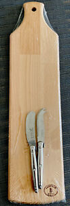 Laguiole Jean Dubost Cheese Spreader/Knife/Board Set of 2-Stainless Steel Handle