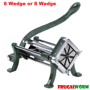 Commercial Countertop Cast Iron French Fry Potato Wedge Cutter Slicer Chopper