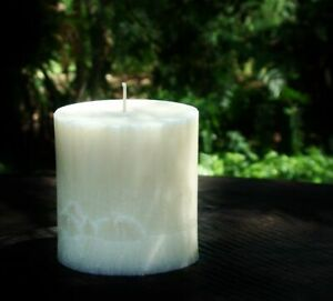 80hr  CREAMY WHITE ESPRESSO Scented Natural Oval CANDLE Dark Roasted Coffee Bean