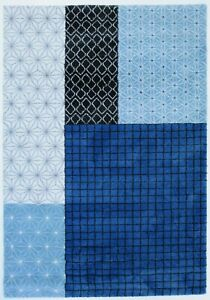 BELLE 56726 blue Luxurious Super Soft Heatset Polypropylene Rugs with OFFER