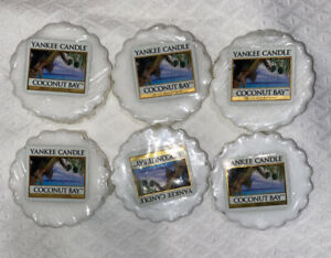 YANKEE CANDLE BRAND NEW COCONUT BAY TARTS MELTS SET OF 6