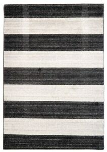 JASPER STRIPE Bamp;W Heavy Weight Hand Carved Frise PP Heatset Rugs with OFFER