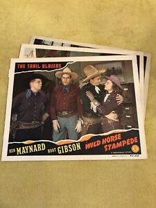 Original Lobby Card Lot: The Trail Blazers in Wild Horse Stampede $19.99