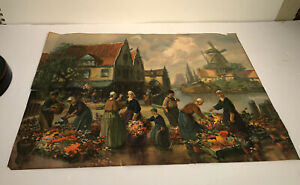 Antique Vintage Lithograph Print Traditional Germany Switzerland Danish City  $9.99