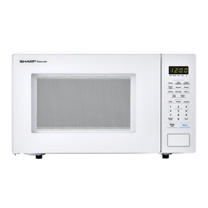 Sharp 1.1 cu. ft. Carousel Countertop Microwave Oven 1000W White