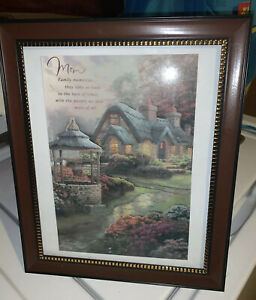 Gift For Mom Picture Frame Brown w/ House Painting & Quote