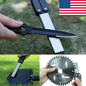 Fold Portable Double Sided Pocket Sharpener Diamond Knife Sharpening Stone USA