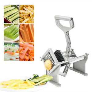 Potato French Fry Fruit Vegetable Cutter Slicer Cutting 3 8quot; Blades ROVSUN