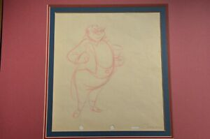 Original Ringmaster production drawing from Dumbo - Walt Disney Studios - 1941 $550.00