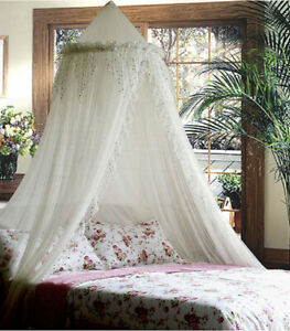 SPARKLE BLING BED CANOPY MOSQUITO NET WHITE - QUEEN FREE SHIPPING FROM USA