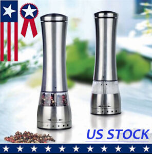 1xStainless Steel Manual Pepper Salt Spice Mill Grinder Kitchen Accessaries Tool