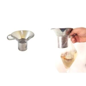 1 X Canning Funnel Wide Mouth Funnel Stainless Steel Thai Kitchen Tool