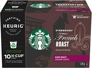 Starbucks French Roast Coffee K cups, 6 X 10 total  60 Count BBD JAN 13. 2020