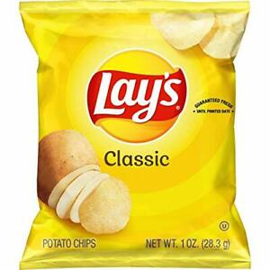 Gluten Free 40 Pack TV Food - Lay's Classic Potato Chips, Delicious Taste Snacks
