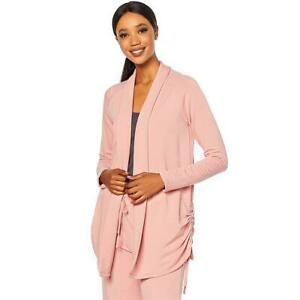 Soft Cozy Loungewear French Terry Ruched Cardigan