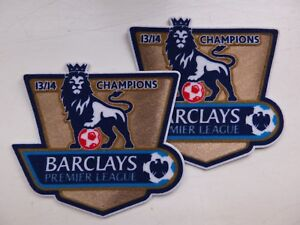 2 Manchester City Barclays Premier League Champions 13 14 Shirt Sleeve Patches